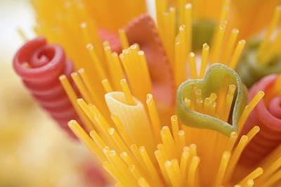 Spaghetti And Coloured Pasta (detail) Art Print