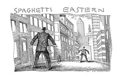 Face Drawing - Spaghetti Eastern by John O'Brien