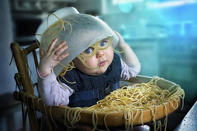 Kitchen Photograph - Spaghettitime by John Wilhelm