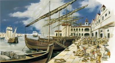 Spain, 16th - 17th C. Overseas Trade Print by Everett