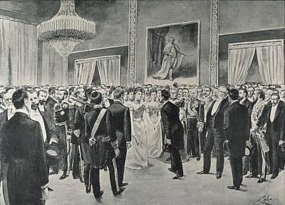 Spain 1900. Spanish American Social Art Print