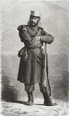 Colonial Man Photograph - Spain 19th C.. Spanish Soldier by Everett