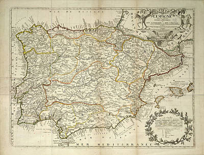 Cartography Photograph - Spain by British Library