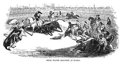 Versus Drawing - Spain Bullfighting, 1856 by Granger