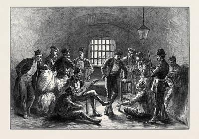 Indoor Drawing - Spain Carlist Prisoners In The Ancient Moorish Prison by Spanish School