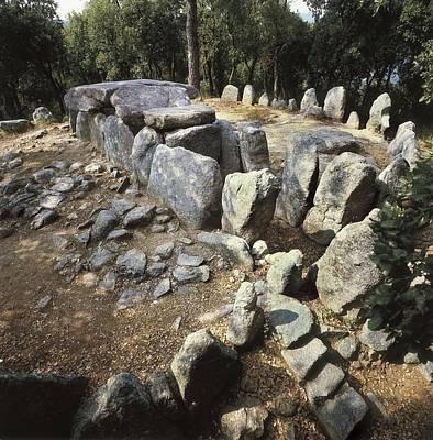 Megalith Photograph - Spain. Catalonia. Gerona. Romany� De La by Everett