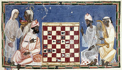 Chess Men Painting - Spain Chess, C1283 by Granger