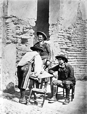 Photograph - Spain Cowboys, C1875 by Granger