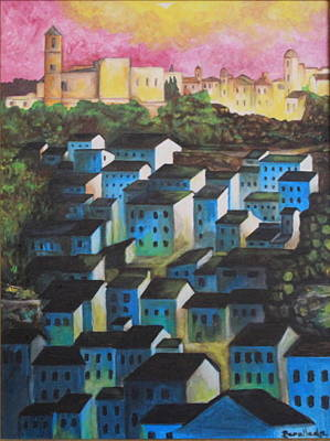 Little Town Of Spain Art Print