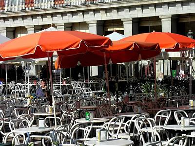 Design Pics - Spain - Madrid - Alone in Plaza Mayor by Jacqueline M Lewis