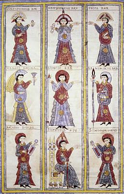 Scribe Painting - Spain Medieval Regents by Granger