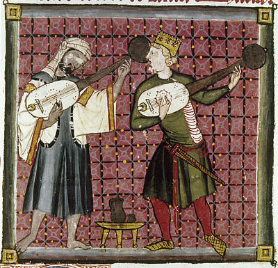13th Century Painting - Spain Music, 13th Century by Granger