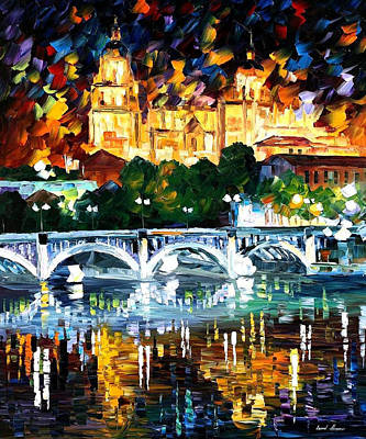 Spain-salamanca - Palette Knife Oil Painting On Canvas By Leonid Afremov Original