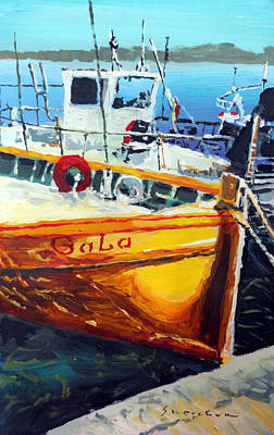 Port Painting - Spain Series 01 Cadaques Portlligat by Yuriy Shevchuk