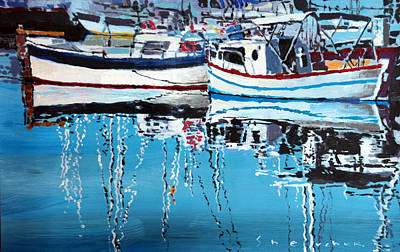 Reflection Painting - Spain Series 04 Cadaques Portlligat by Yuriy Shevchuk