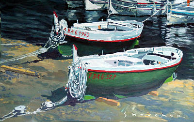 Costas Painting - Spain Series 11 Cadaques Port Lligat by Yuriy Shevchuk