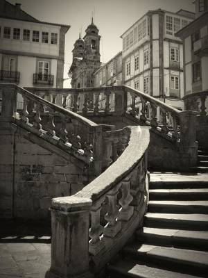 Photograph - Plaza Stairs In Spain Series 24 by Carlos Diaz