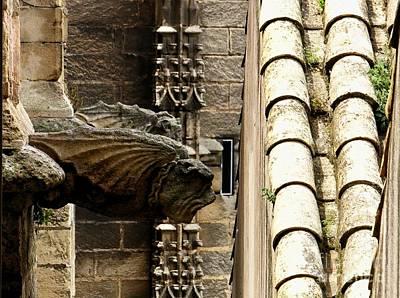 Spain - Seville Cathedral - Gargoyles Art Print by Jacqueline M Lewis