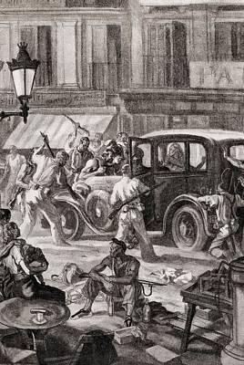 Spain. Spain. Civil War. Requisition Art Print by Everett