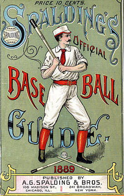Grate Digital Art - Spalding Baseball Ad 1189 by Unknown