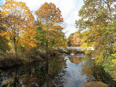Photograph - Span On The River In Fall by Georgia Hamlin