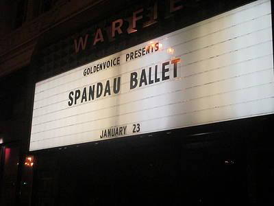 Spandau Ballet - Warfield Marquis Sign Art Print by David Lovins