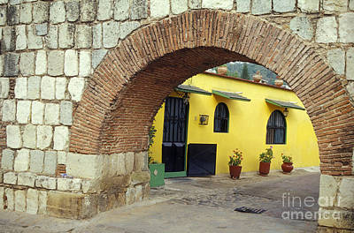 Photograph - Spanish Aqueduct Oaxaca Mexico by John  Mitchell