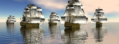 Digital Art - Spanish Armada by Claude McCoy
