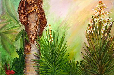 Painting - Spanish Bayonets With Palm by Ashley Goforth