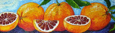 Spanish Blood Oranges Art Print