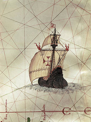Painting - Spanish Caravel, C1587 by Granger