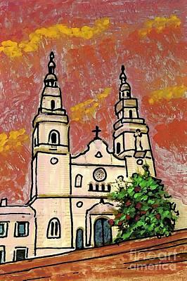 Spanish Church Art Print by Sarah Loft