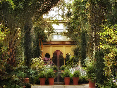 Flower Planter Photograph - Spanish Courtyard by Jessica Jenney