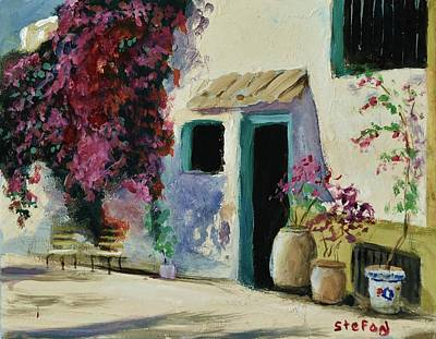 Painting - Spanish Courtyard by Stefon Marc Brown