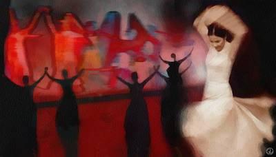 Flamenco Digital Art - Spanish Dance by Gun Legler