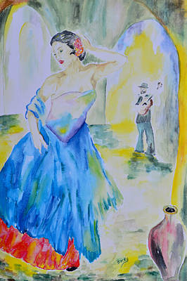 Spanish Dancer Art Print by Donna Blackhall