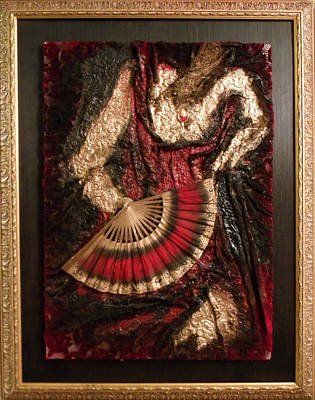 Mixed Media - Spanish Dancer Framed by Angela Stout