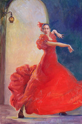 Spanish Flame Art Print by Gwen Carroll