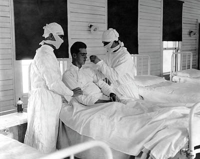1918 Photograph - Spanish Flu Nursing Ward by Us Navy