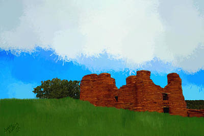 Spanish Villa Painting - Spanish Franciscan Mission  by Bruce Nutting