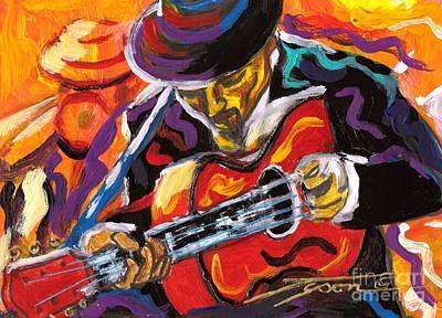 Spanish Guitarist Art Print by Jonathan Tyson