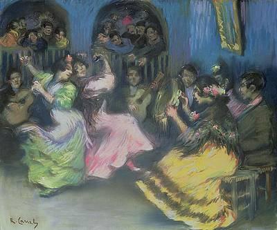 Spanish Gypsy Dancers, 1898 Art Print