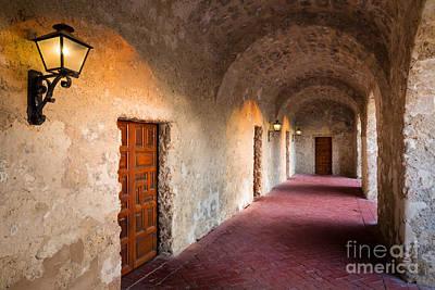 San Antonio Photograph - Spanish Hallway by Inge Johnsson