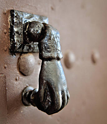 Photograph - Spanish Hand Door Knocker by Angela Bonilla