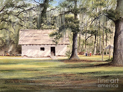 Painting - Spanish House Mission San Luis Tallahassee by Bill Holkham