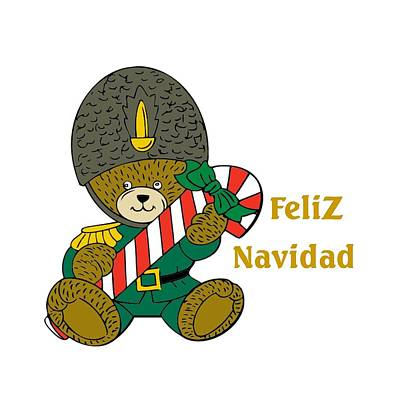 Digital Art - Spanish Kids Christmas by Florene Welebny