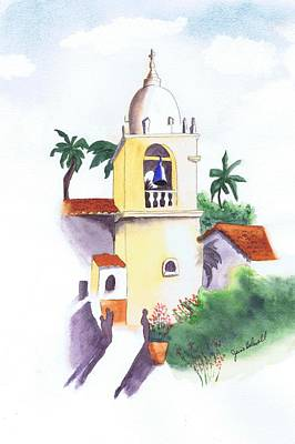 Painting - Spanish Mission by June Holwell