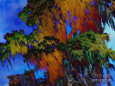 Bayou Abstract Digital Art - Spanish Moss / Jazzed  by Elizabeth McTaggart