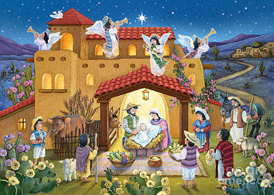 Digital Art - Spanish Nativity by Randy Wollenmann