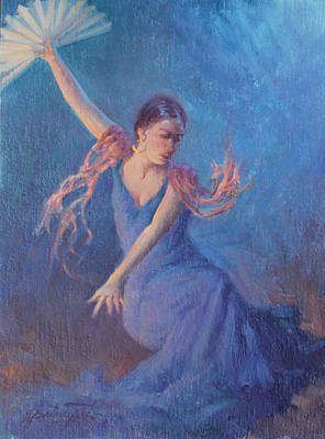 Spanish Dancer Painting - Spanish Nights by Ernest Principato